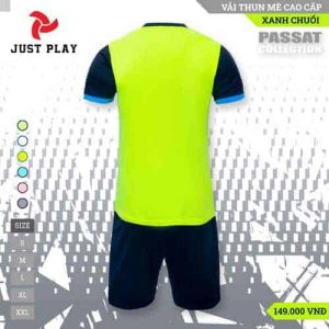 JUST PLAY – Áo Đá Banh Không Logo Passat Xanh Chuối